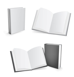 blank books vector image vector image