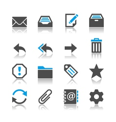 Email icons reflection vector image