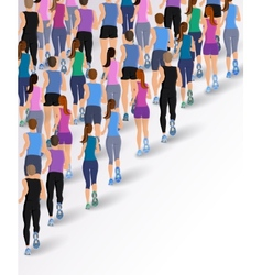 Group running people vector image