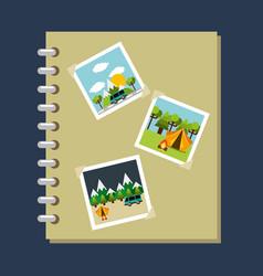 photo album gallery travel vacations vector image