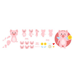 pig character for animation vector image
