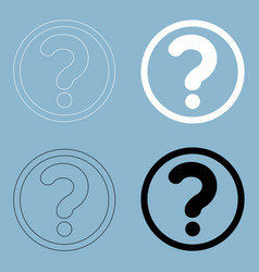 question mark in a circle the black and white vector image vector image