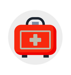 safety car medical kit isolated on white vector image