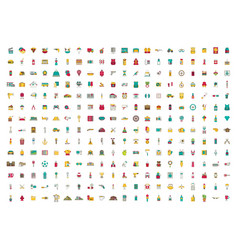 set of icons flat design vector image vector image