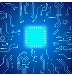 Abstract hi-tech blue background vector image