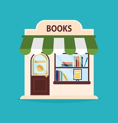 Books shop facade of books shop building I vector image