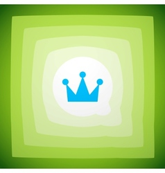 crown creative abstract background vector image