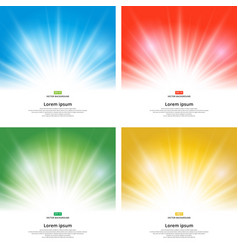 set of sunlight effect sparkle on yellow vector image