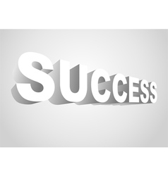 3D Success vector