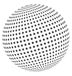 Abstract dot sphere vector