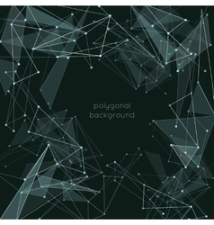 Abstract polygonal wireframe mesh background vector image