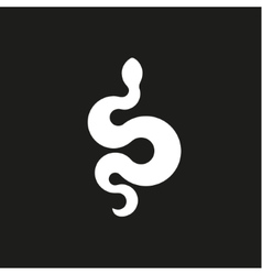 Annular snake sign icons in flat design style vector
