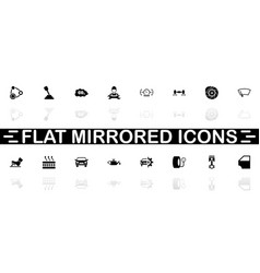 auto - flat icons vector image