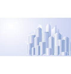Background with future city landscape vector