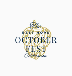 best hops octoberfest celebration abstract vector image