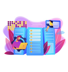 Big data storage concept vector