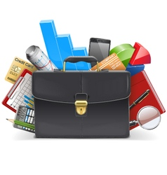 Business Concept with Suitcase vector image