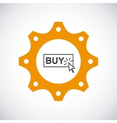 Buy button icon Gear design graphic vector image