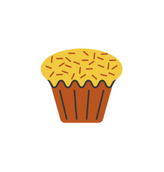 cake cupcake color icon element of christmas and vector image