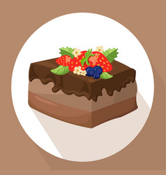 Cakes icon template on white background vector