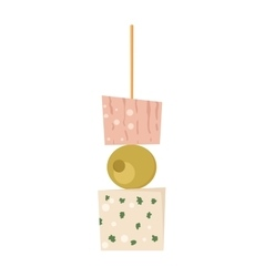 Canape snacks vector