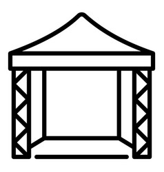Canopy scene icon outline style vector