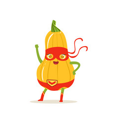 Cartoon character of superhero butternut squash vector