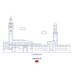 casablanca city skyline vector image