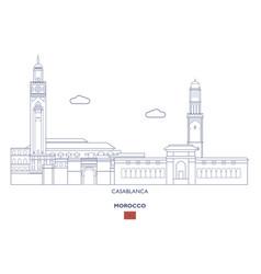 Casablanca city skyline vector