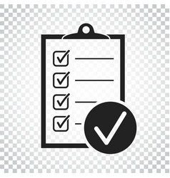Checklist icon survey in flat design on isolated vector