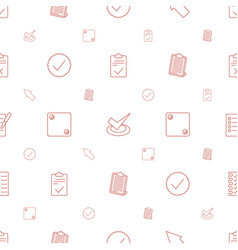 Choice icons pattern seamless white background vector