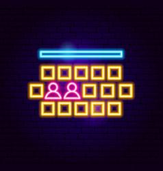 cinema hall neon sign vector image