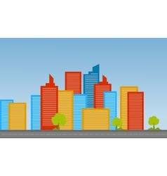 Cityscape landscape flat vector