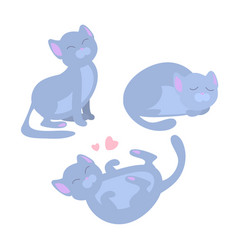 collection of of cute cat in vector image
