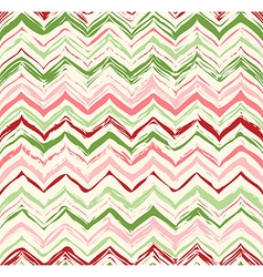Colorful stripes seamless zigzag pattern vector image