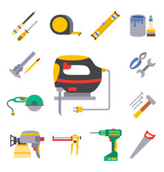 construction worker equipment house vector image