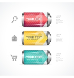 detailed glossy battery like menu vector image