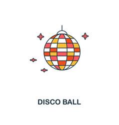 disco ball icon creative 2 colors design vector image