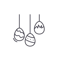 easter eggs line icon concept easter eggs vector image