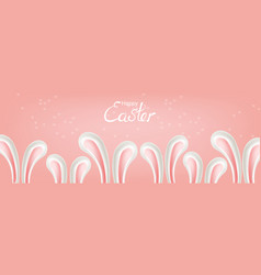easter rabbit ears poster holiday card vector image