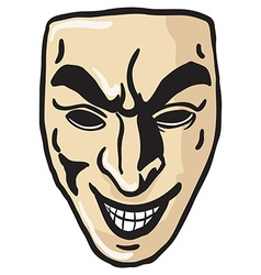 Evil smile mask vector