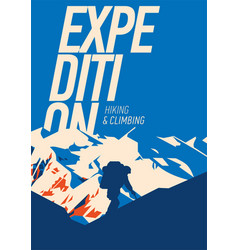 Extreme outdoor adventure poster high mountains vector