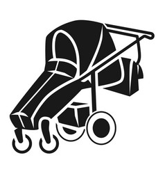 foldable baby stroller icon simple style vector image