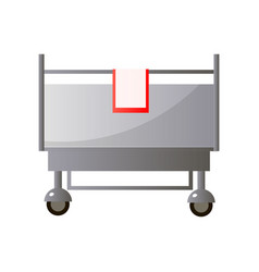 Front metal hospital bed from chirurgical vector