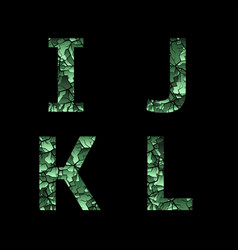 Green camouflage letters vector