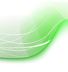 Green swoosh wave background - certificate vector