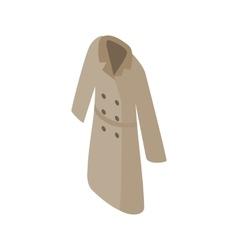 Grey women coat icon isometric 3d style vector image