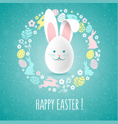 Happy easter congratulation vector