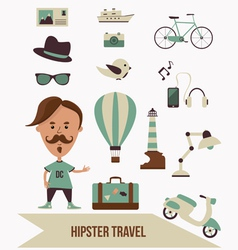 Hipster Travel Set vector