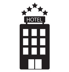 Hotel icon on white background hotel sign flat vector